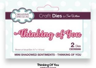 Mini Shadowed Sentiments Collection - Thinking of You